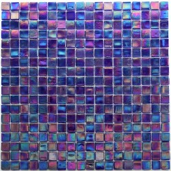 Mosaic for bathroom and shower Rainbow Petrole