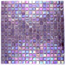 Glass mosaic bathroom shower Rainbow Purple