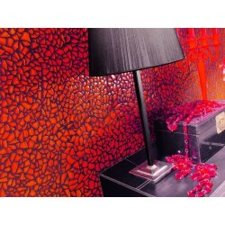 Glass mosaic bathroom osmose Rouge