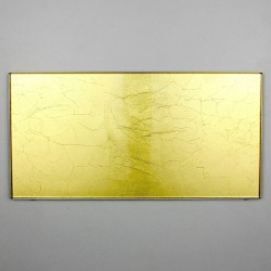 Glass tile gold color Indivo Or splashback kitchen
