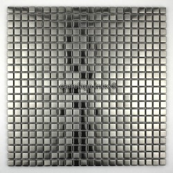 Stainless steel mosaic bathroom Alea